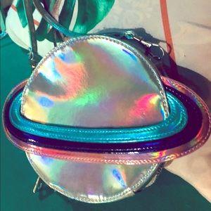 Saturn holographic purse